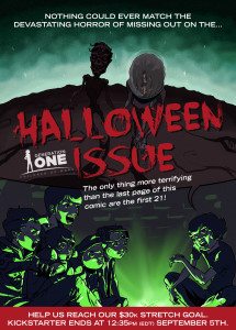 Poster for Generation One Halloween issue.
