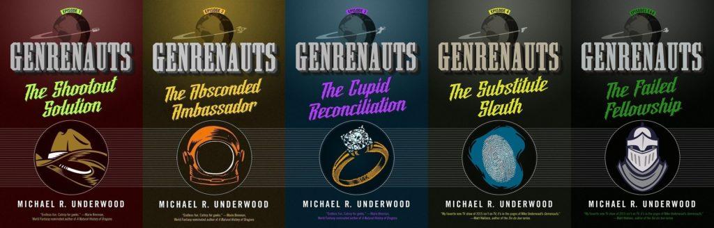 Genrenauts Season One covers - all five