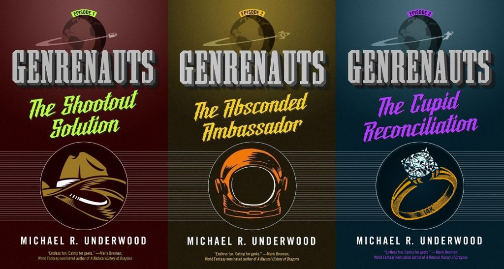 All Three Genrenauts covers
