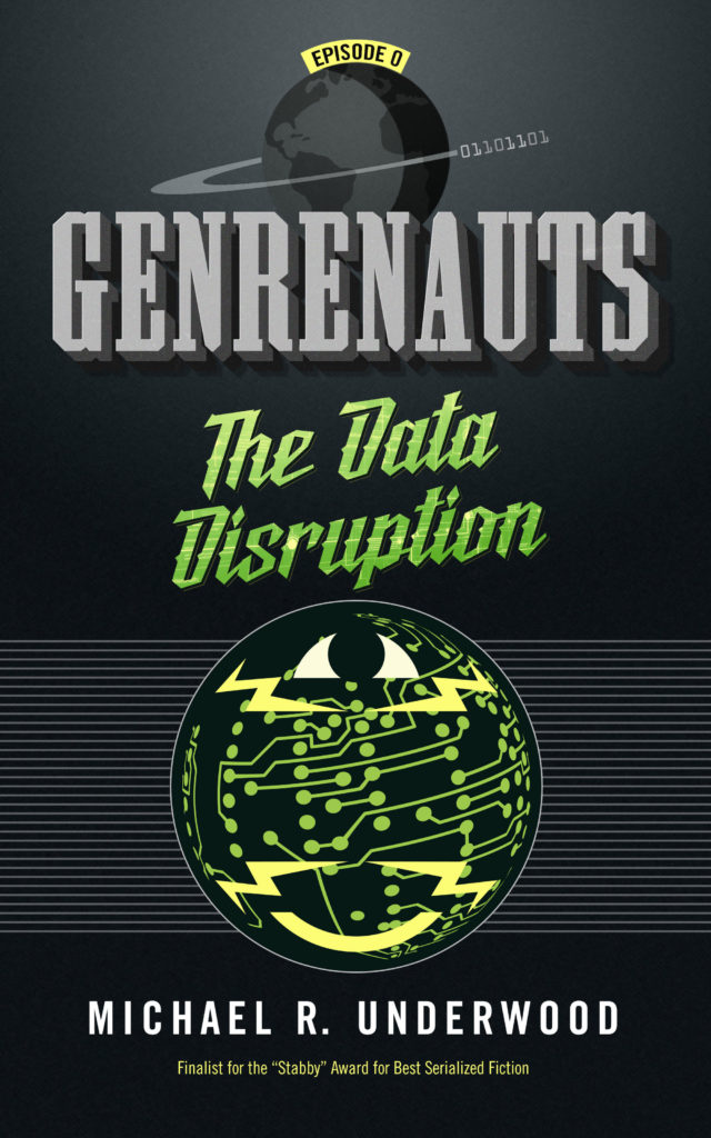 The Data Disruption cover. Design by Sean Glenn